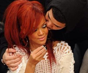 couple, Drake, and rihanna image