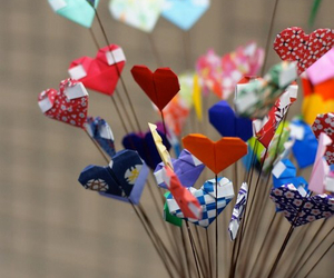 heart, hearts, and origami image
