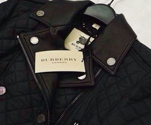 black, Burberry, and jacket image