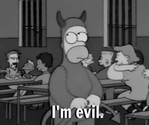 evil, simpsons, and homer image