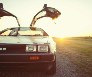 awesome, Back to the Future, and car image
