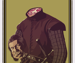 ned, stark, and game of thrones image