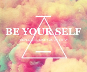 be, triangle, and quote image