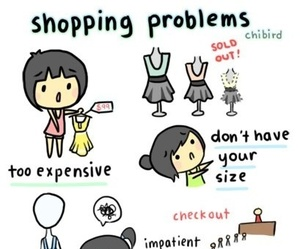 shopping, problem, and funny image