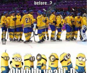 minions, hockey, and funny image