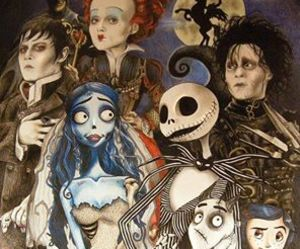 alice in wonderland, corpse bride, and scary image