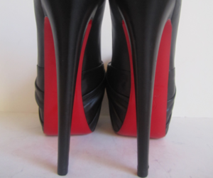 black, christian louboutin, and red image