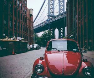 car, red, and city image