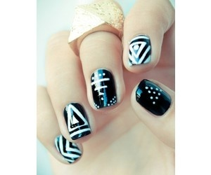 hipster, nails, and uñas image