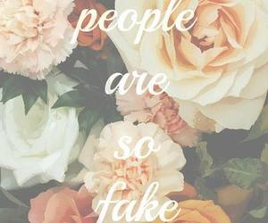 fake, people, and flowers image