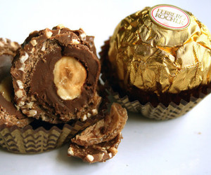 chocolate, ferrero rocher, and ferrero image