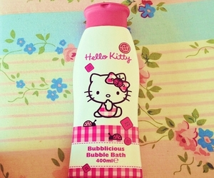 floral, hello kitty, and pink image