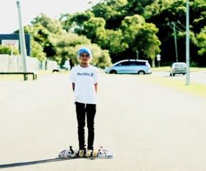 skateboard, skateboarding, and hurley image
