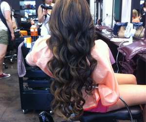 hair, long hair, and curls image