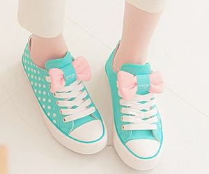 blue, shoes, and pink image