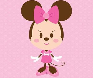 pink, minnie mouse, and cute image