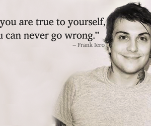 frank iero, quote, and mcr image