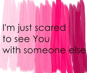 love, pink, and scared image