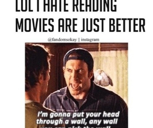 books, movies, and funny image