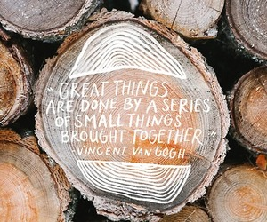 quotes, wood, and vincent van gogh image
