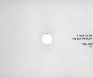 art, quote, and hole image