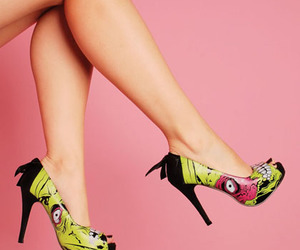 fashion, heels, and monster image