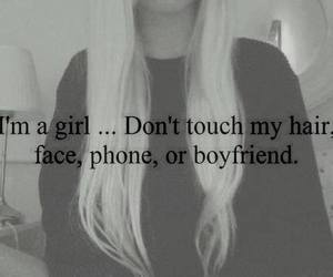 girl, boyfriend, and hair image