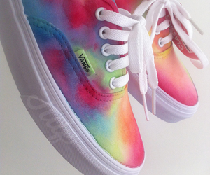 rainbow, shoe, and tennis image
