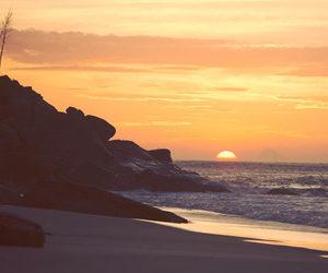 beach, sunset, and life image