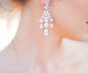 bride, diamonds, and earring image