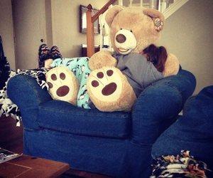 bear, hug, and teddy image