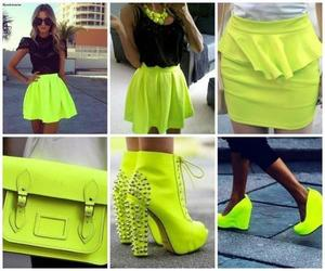 neon, style, and dress image