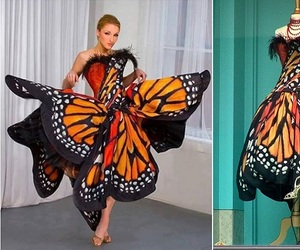 dress, butterfly, and butterfly dress image