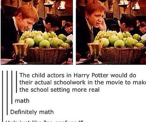 harry potter, funny, and math image