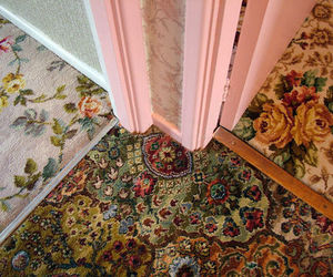 carpet, flowers, and vintage image