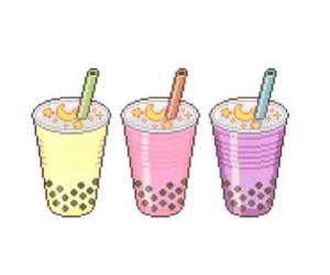 bubble tea, drink, and milkshake image