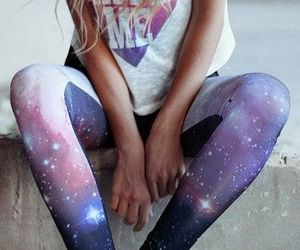 girl, fashion, and galaxy image