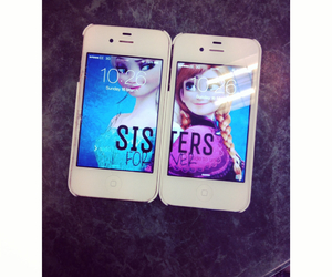 frozen, phone, and sisters image