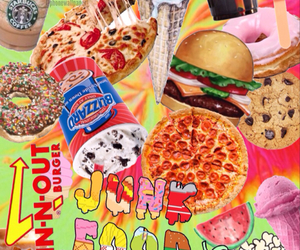 food, pizza, and junk food image