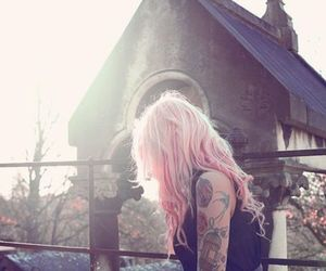 dyed, tat, and girl image