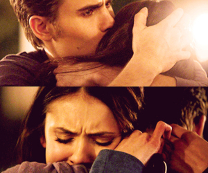 tvd, stelena, and elena gilbert image