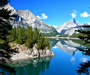 Alberta, lake, and landscape image