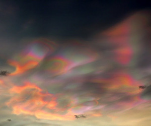 cloud, iredescent, and mother of pearl image