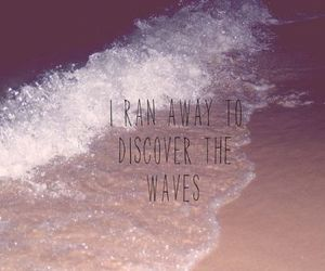 waves, beach, and discover image