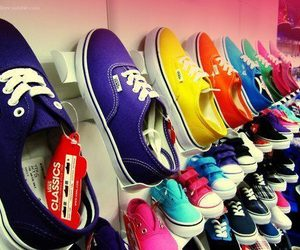 blue, red, and vans image