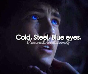 teen wolf, blue eyes, and werewolf image