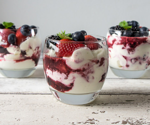 food, healthy, and blueberries image