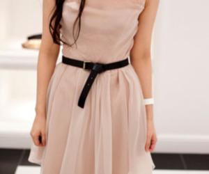 dress, pink, and belt image