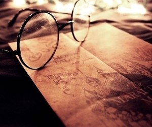 harry potter, hp, and glasses image