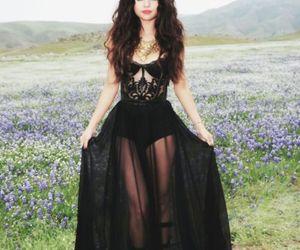 selena gomez, black, and dress image